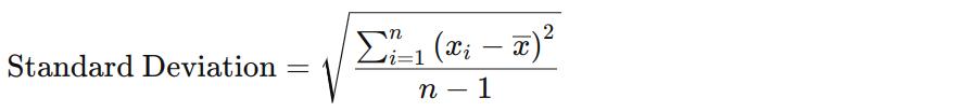 Formel for standardavvik