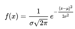 Formel for normalfordeling